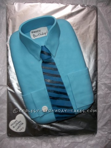Coolest Shirt Cake With Inter FC Tie