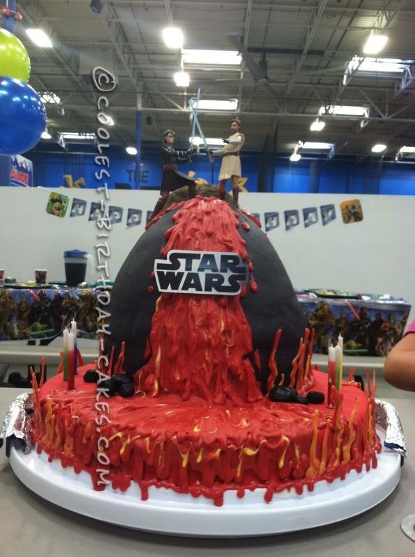 Coolest Star Wars Lava Battle Cake
