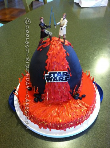 Coolest Star Wars Lava Battle Cake