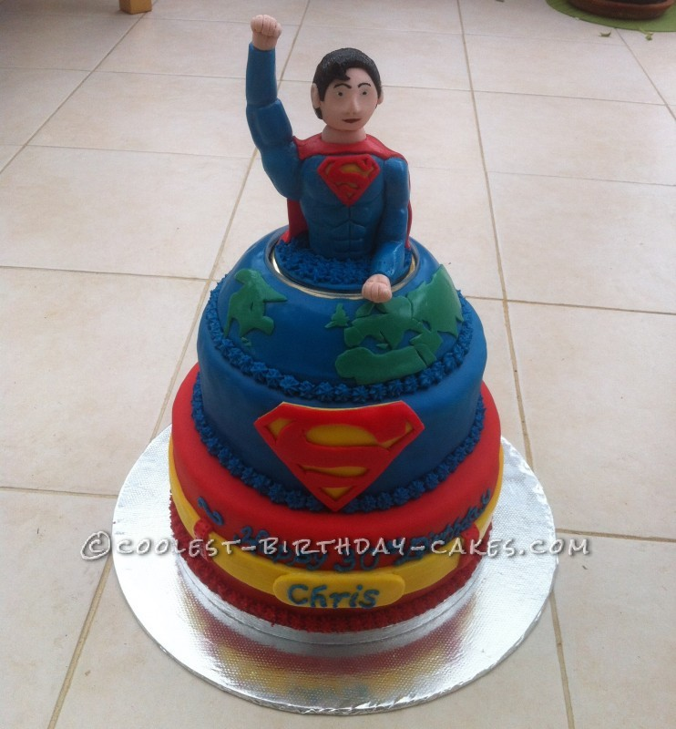 Phenomenal Cool Homemade Superman Birthday Cake Funny Birthday Cards Online Bapapcheapnameinfo