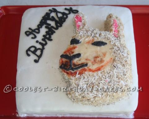 Coolest Llama Birthday Cake