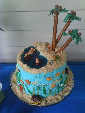 Coolest Beach Birthday Cake