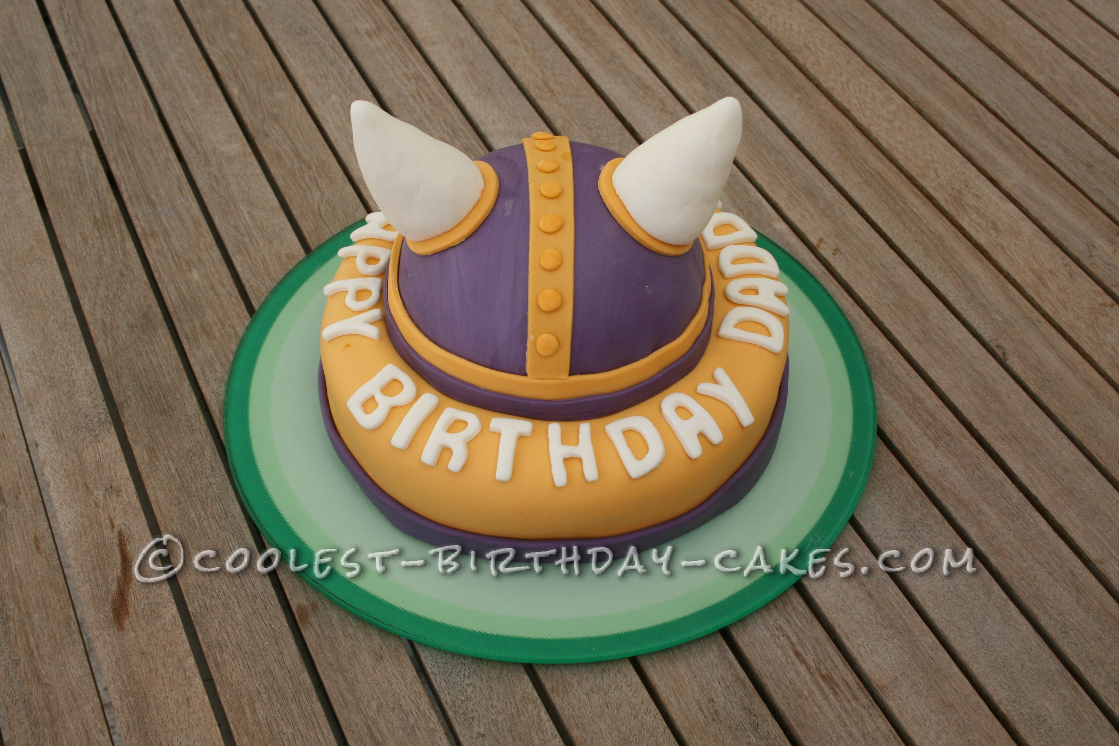 Cool Vikings Birthday Cake