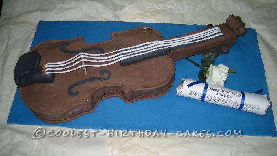 Coolest Violin Birthday Cake