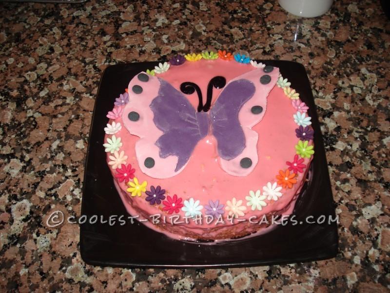 3D Butterfly Birthday Cake
