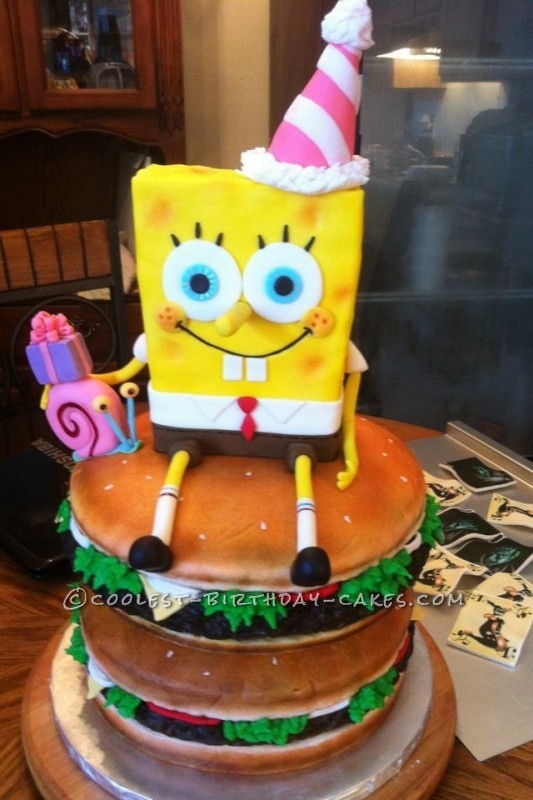 How To Make A D Spongebob Cake Step By Step