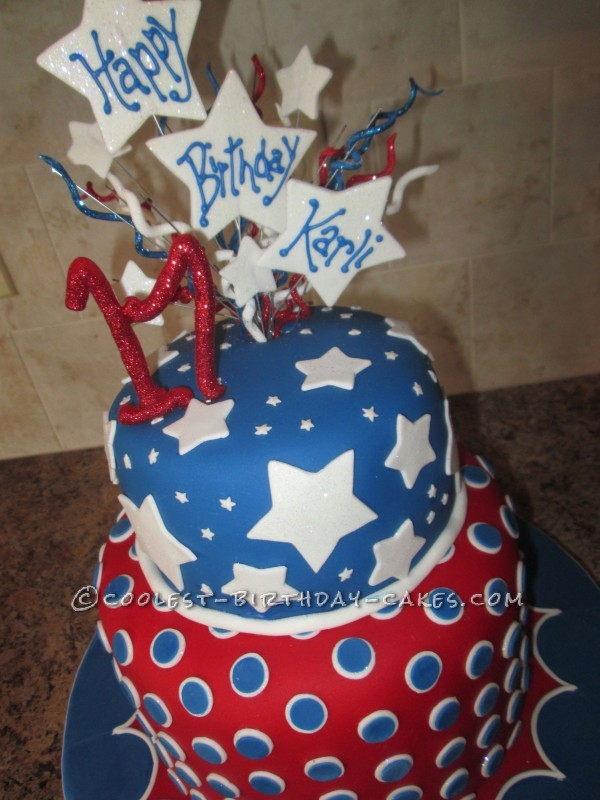 Coolest 4th of July Birthday Bash Cake