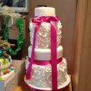 Linda's Wedding Cake for her Daughter