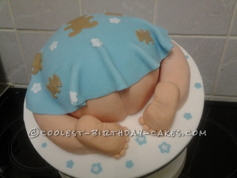 Coolest Baby's Bottom Shower Cake