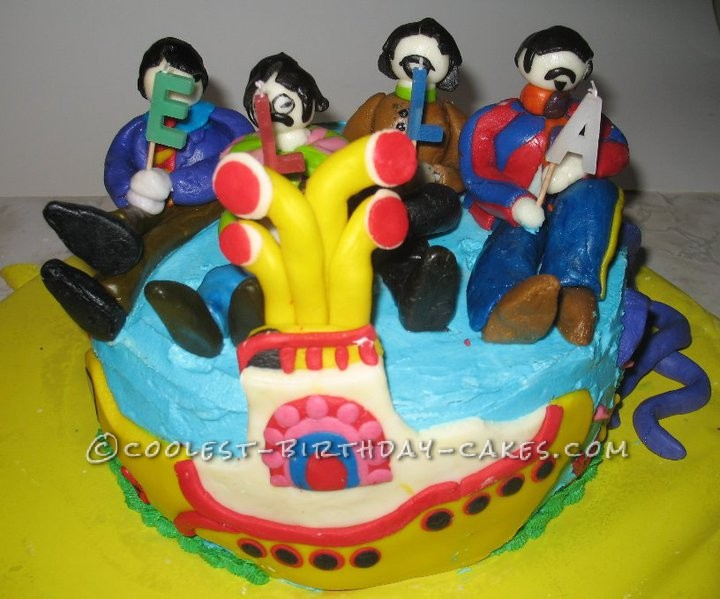 Coolest Beatles Birthday Cake