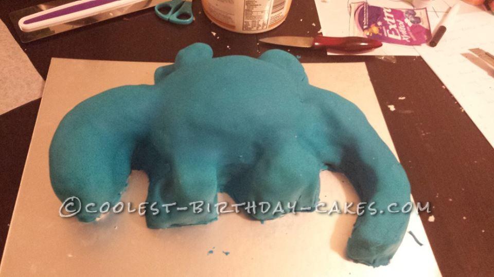 Coolest Blue Stegosaurus Birthday Cake