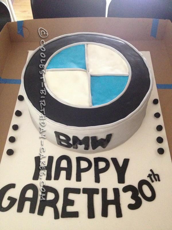 Coolest BMW Emblem Birthday Cake