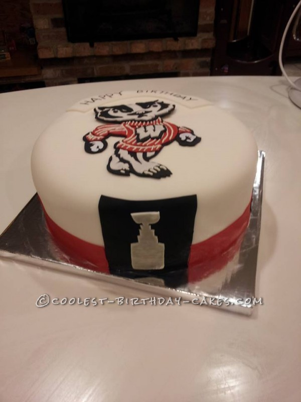 Coolest Bucky's Stanley Cup Cake