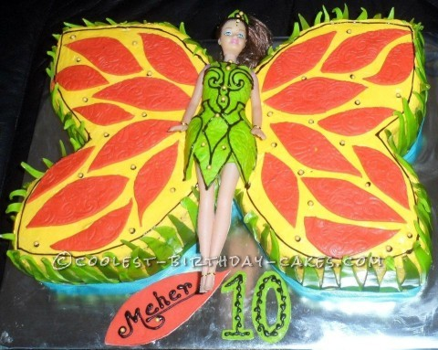 Coolest Butterfly Princess Birthday Cake