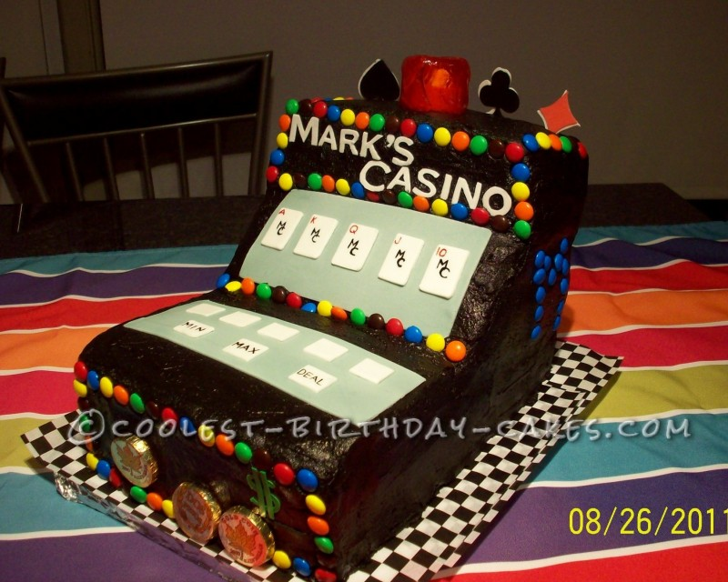 Casino Video Poker Cake
