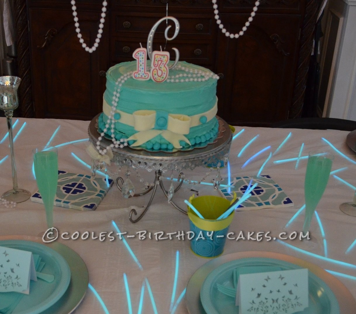 Coolest 13th Birthday Tiffany & Co. Inspired Cake
