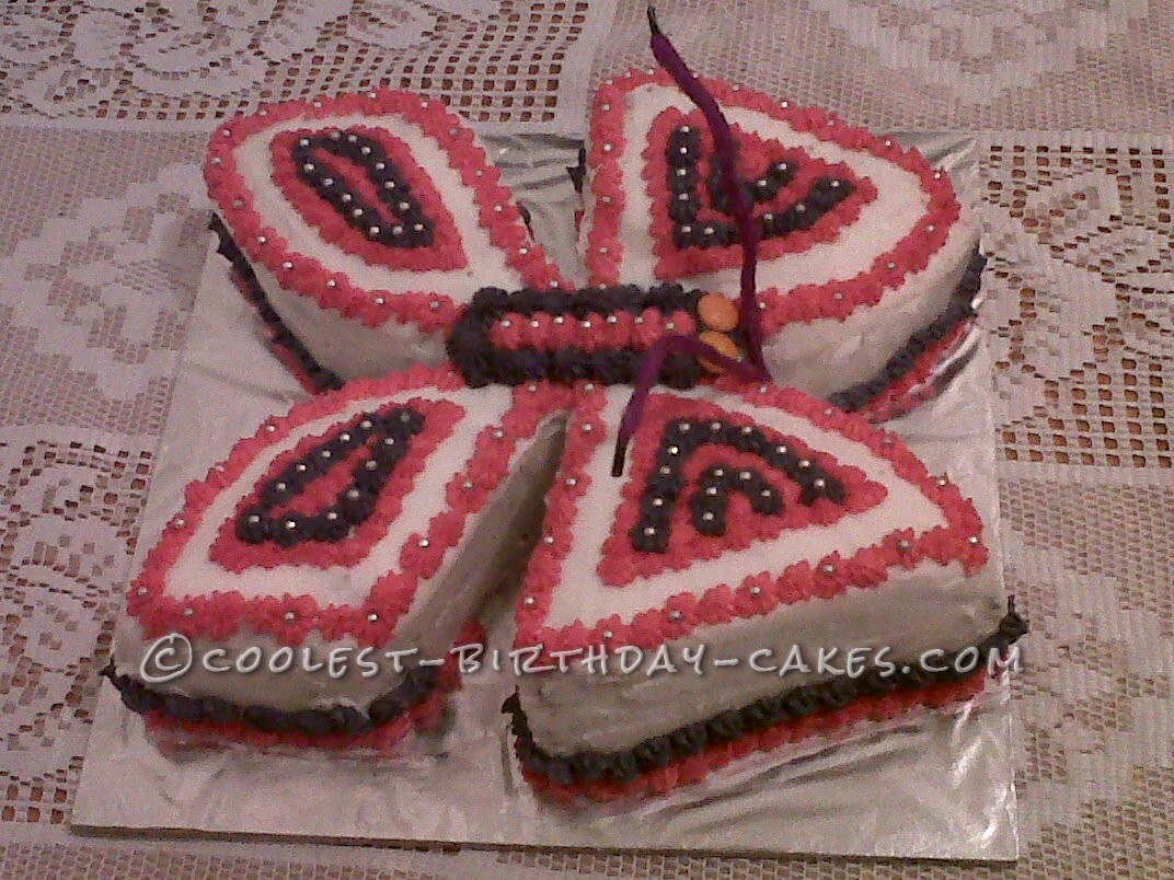 Coolest Butterfly Birthday Cake