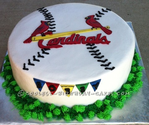 Coolest Cardinals Baseball Cake