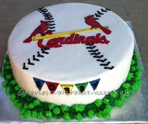 Coolest Cardinals Baseball Cake