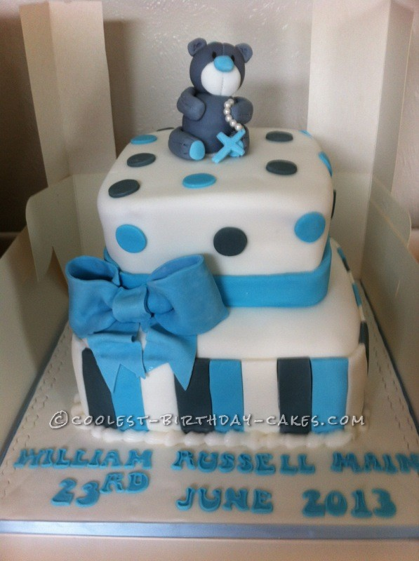 Coolest Christening Cake