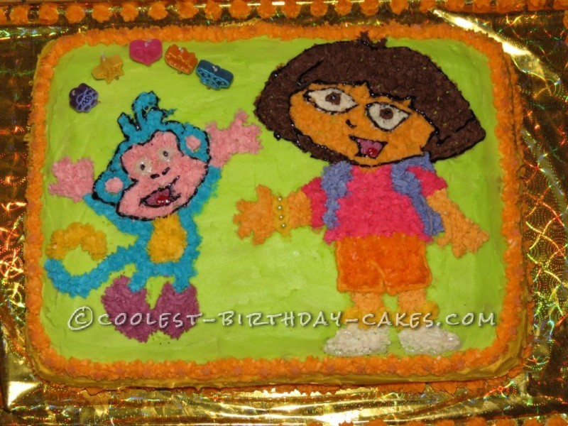 Coolest Dora and Boots Birthday Cake