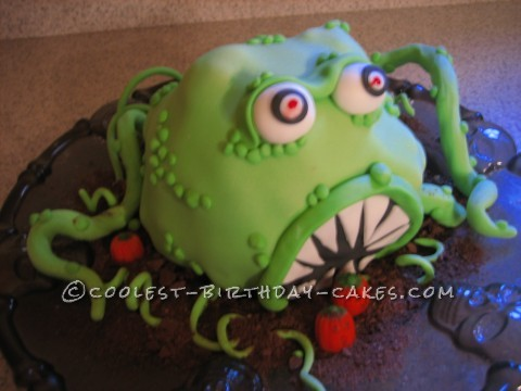 Coolest Halloween Monster Cake