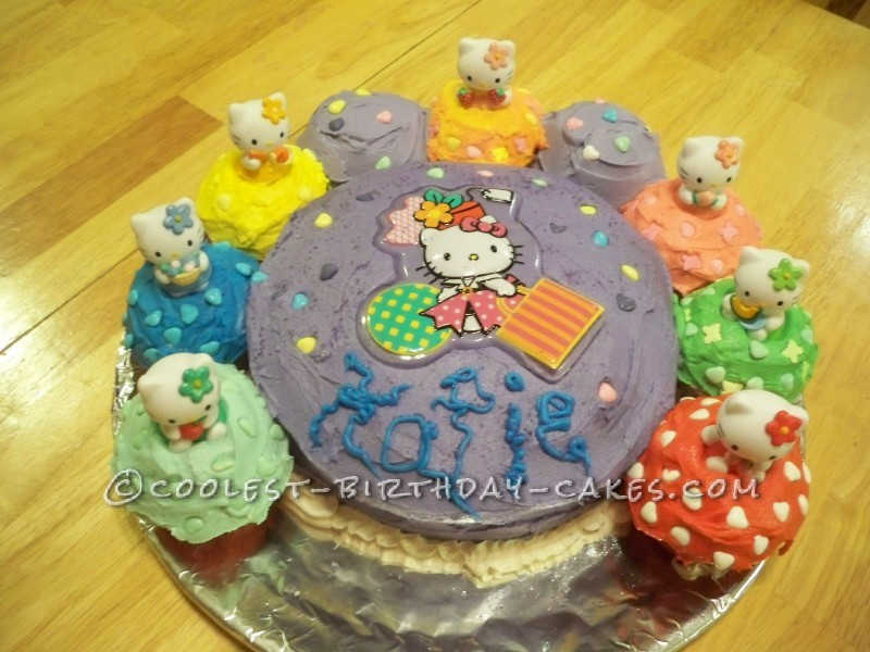 Cute Hello Kitty Birthday Cake with Toys