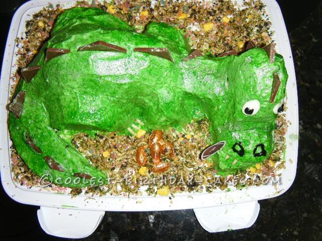 Cool Dinosaur Cake for my Grandson's 5th Birthday
