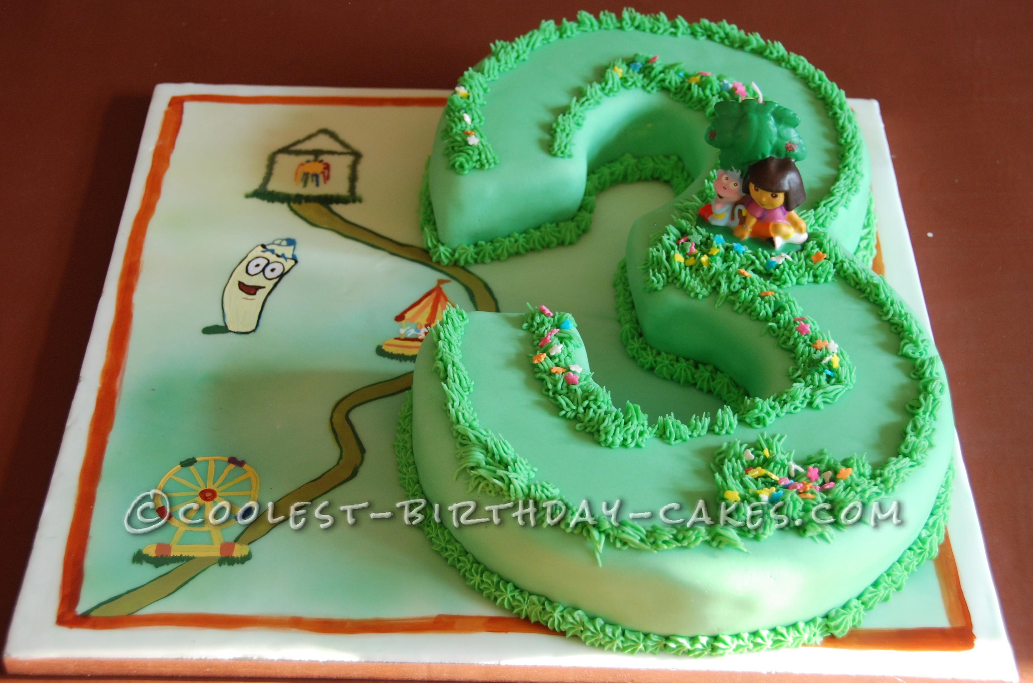 Coolest Dora the Explorer Birthday Cake
