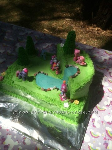 Easy but AWESOME My Little Pony Cake for my 5 year old girl