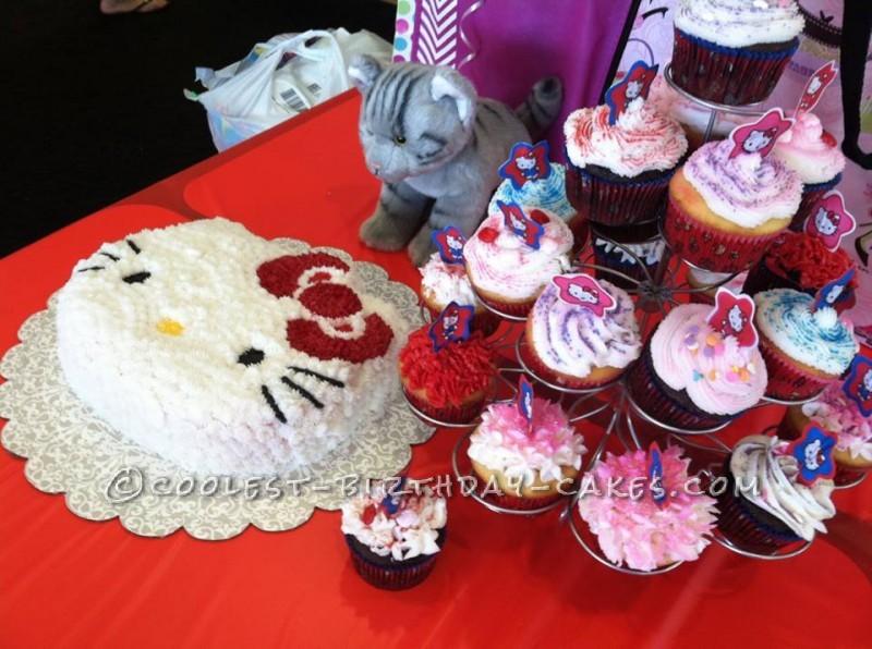 Easy Hello Kitty Cake