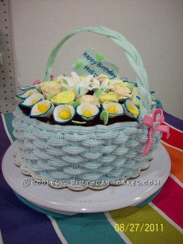 Flower Basket Birthday Cake