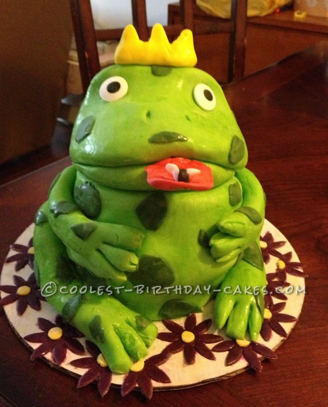 Brilliant Coolest Froggy Prince Birthday Cake Personalised Birthday Cards Bromeletsinfo