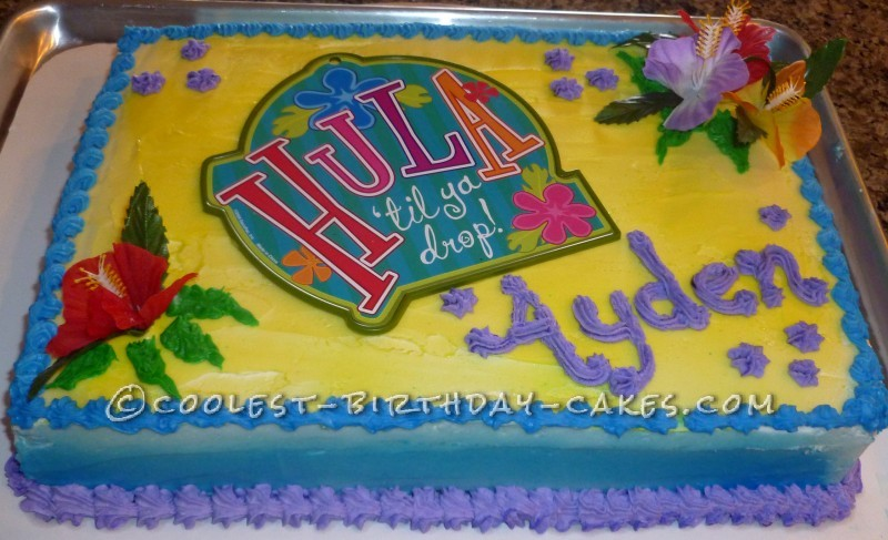 Hula Till You Drop Cake for Much Less Than Bakery