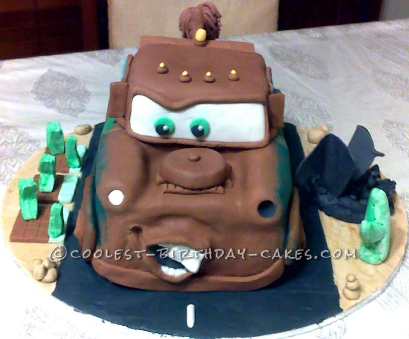 Astounding Coolest Last Minute Mater Birthday Cake Funny Birthday Cards Online Alyptdamsfinfo