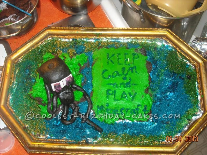 Minecraft Cupcake Cake