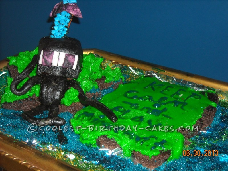 Minecraft Sword Cupcake Cake Enderman