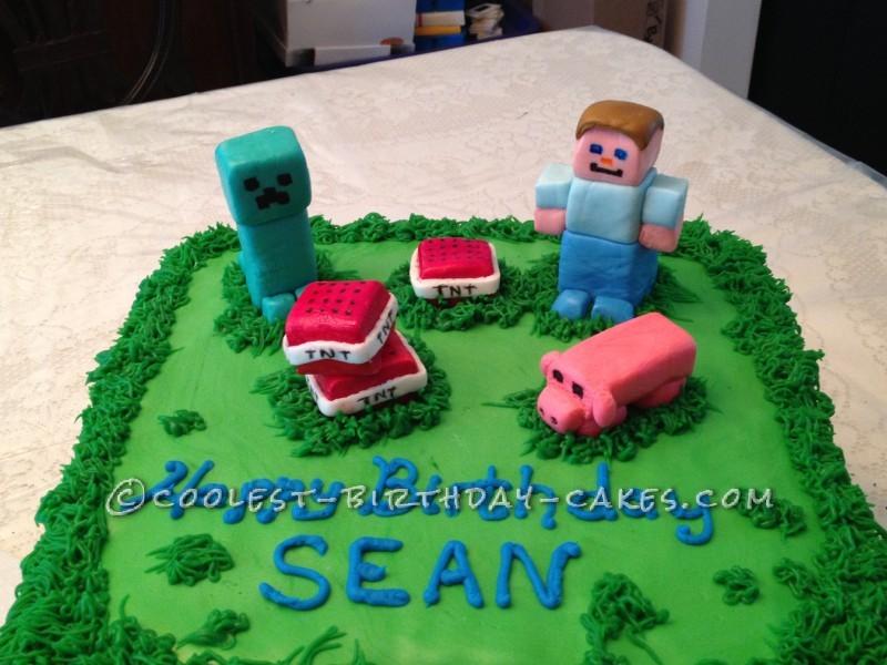 Coolest Minecraft Birthday Cake