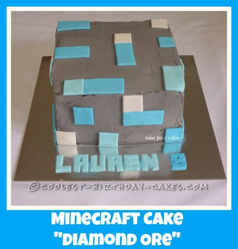 Coolest Minecraft Diamond Ore Cake