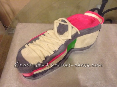 Coolest Running Shoe Cake for 40 and Fabulous Marathoner