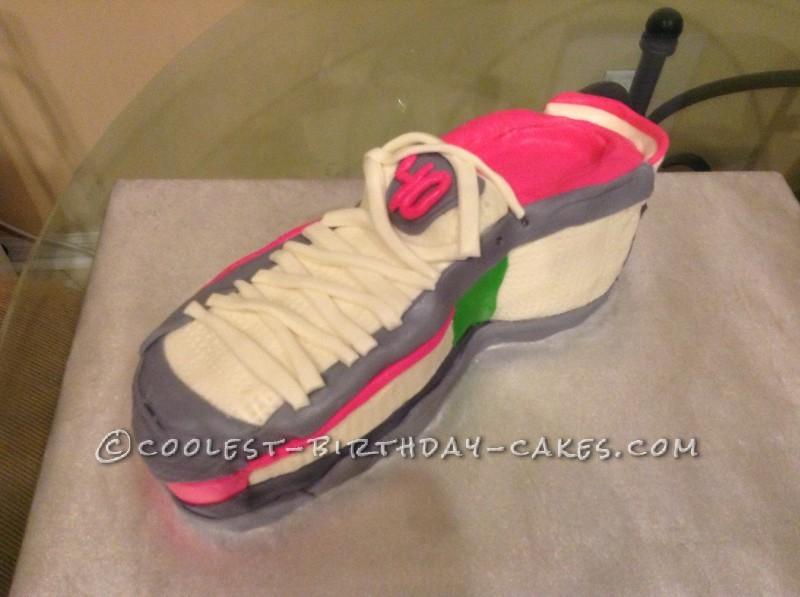 Coolest Running Shoe Cake for 40 and Fabulous Marathoner