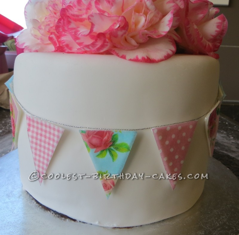 Phenomenal Shabby Chic Vintage Bunting Cake Personalised Birthday Cards Cominlily Jamesorg