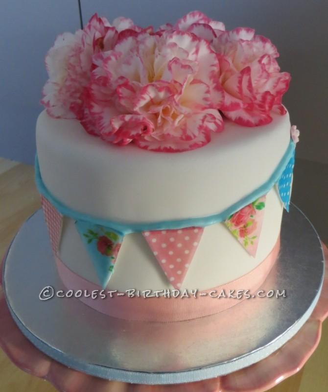 Shabby Chic Vintage Bunting Cake