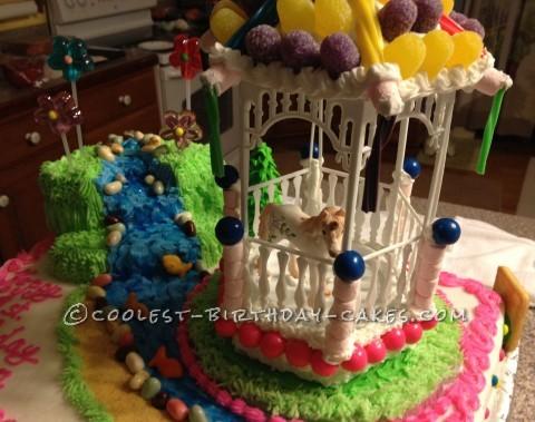 Sweetest Unicorn and Gazebo 1st Birthday Cake