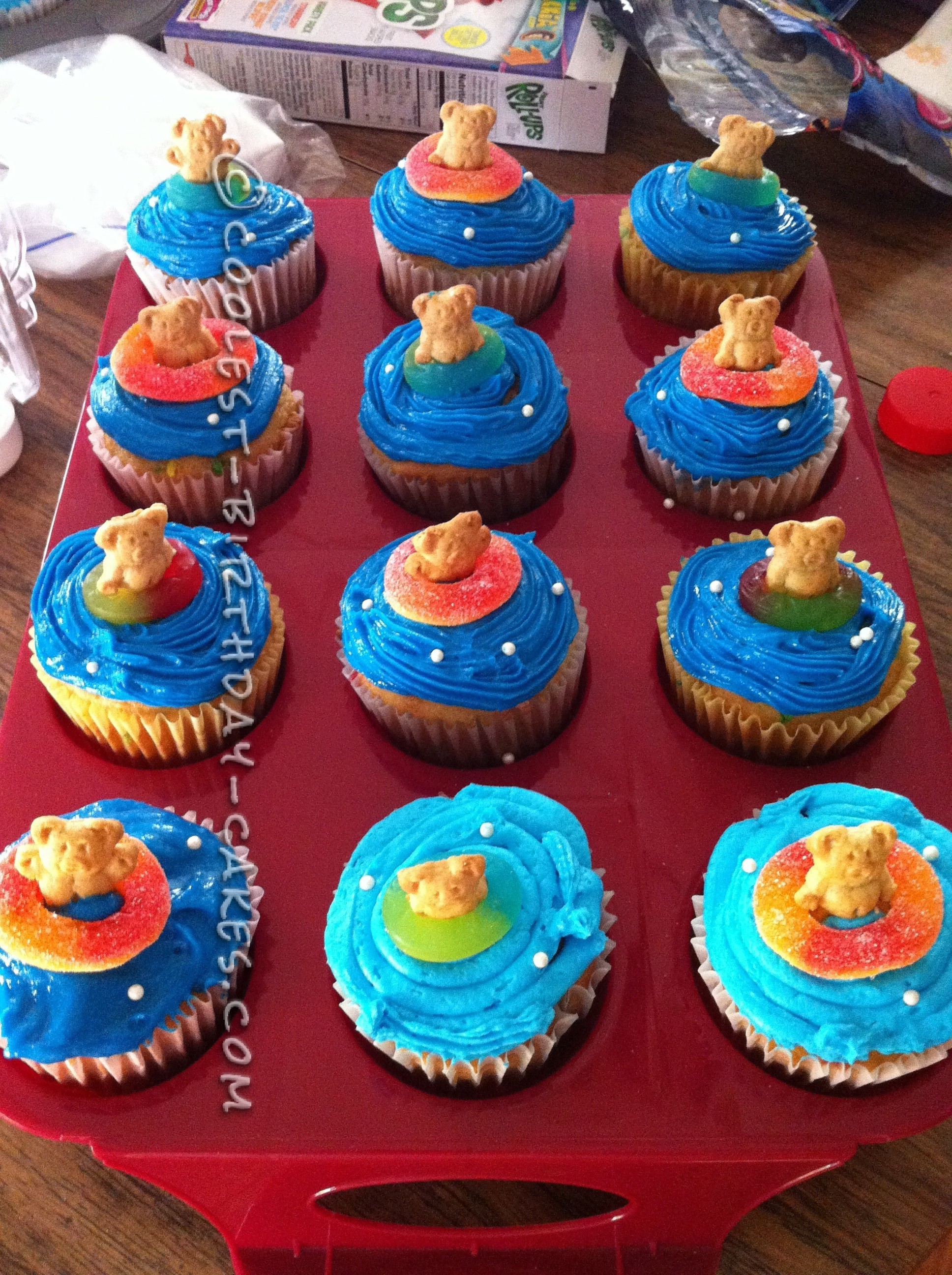 Cup cakes were also fun fetti cake with blue butter cream icing.