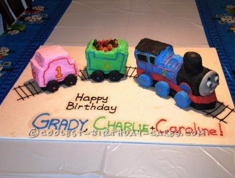 Coolest Homemade Thomas the Birthday Train Cake