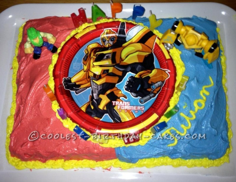 Coolest Transformer Birthday Cake