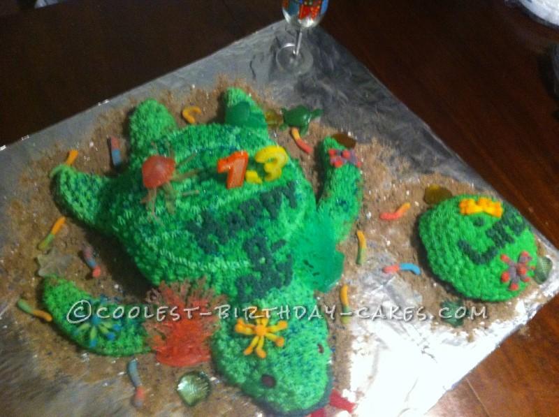 Coolest Under The Sea Turtle Birthday Cake