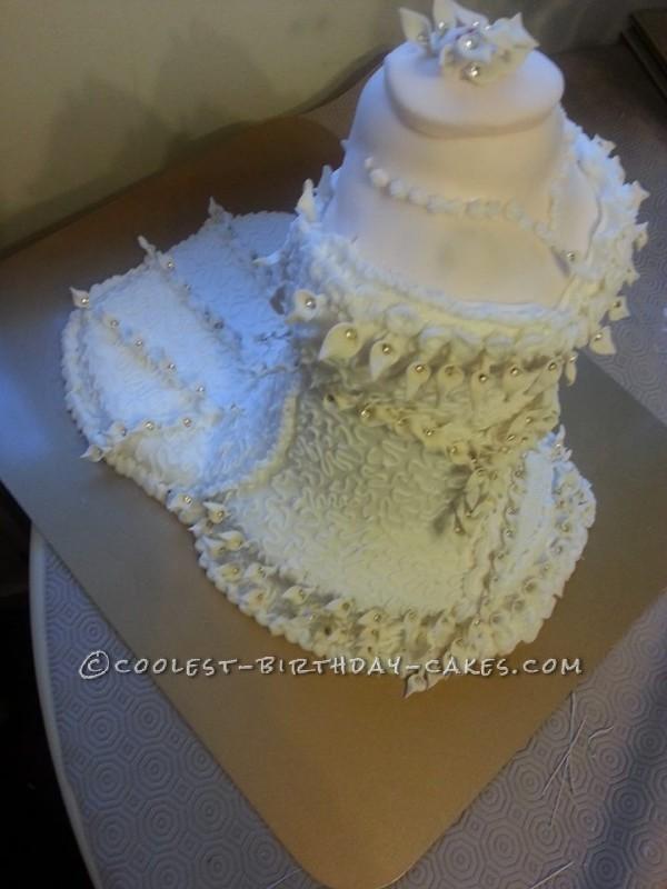 Homemdae Wedding Dress Cake
