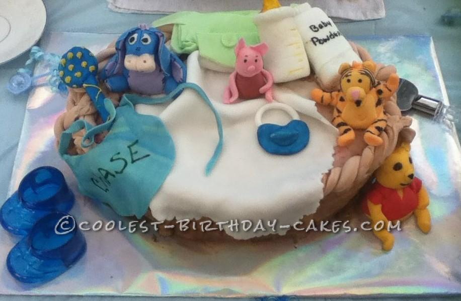Cool Homemade Winnie The Pooh Baby Shower Cake